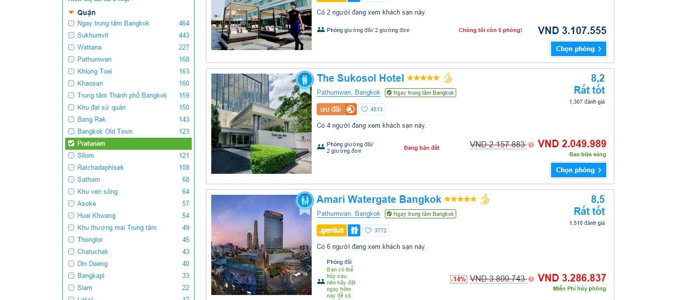Kinh nghiệm đặt phòng khách sạn - Chọn theo vị trí