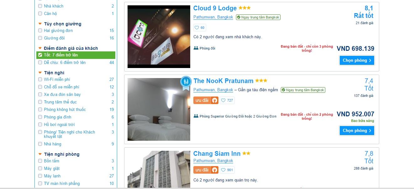 Kinh nghiệm đặt phòng khách sạn - Chọn theo điểm đánh giá