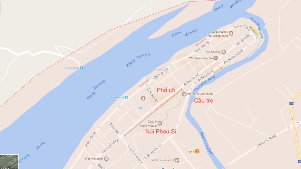 Bản đồ Luang Prabang