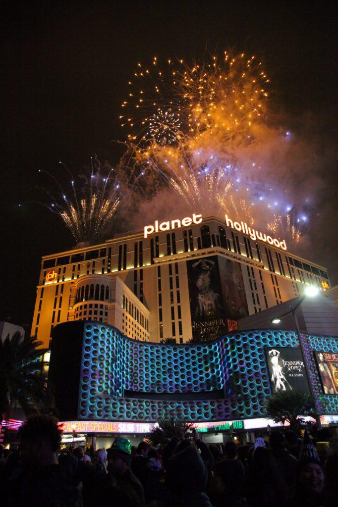 Pháo bông đêm Giao thừa ở Las Vegas