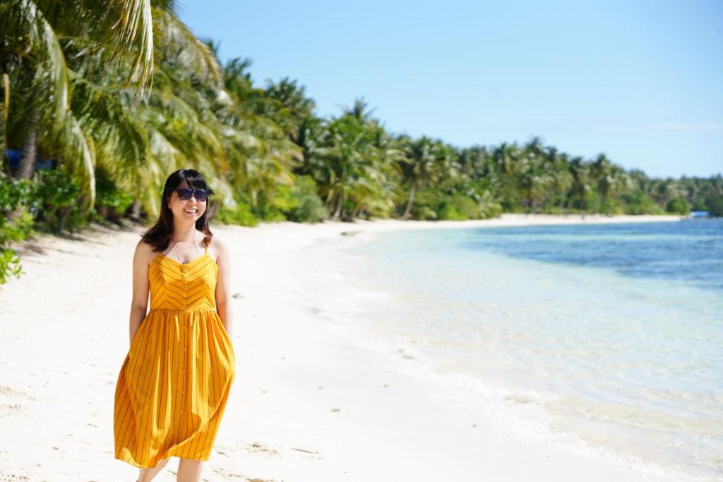Bãi biển trước resort Retreat Siargao